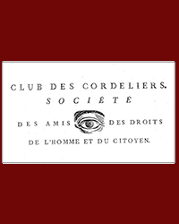 Club des Cordeliers, open eye, paper